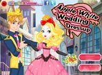 Apple White wedding dress up