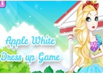 Miss Fabulous Apple White Dress up
